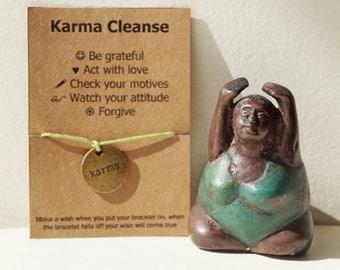 Buy5Free1~ Yoga Wish Bracelet, Yoga Friendship Bracelet, Karma Bracelet, Karma Gifts, Zen Bracelet, Yoga Gifts, Karma bracelet, Karma, yoga