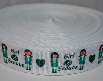 """Scouts 7/8"""" Grosgrain Ribbon for Hair Bows, Kids Crafts, Scrapbooks, Cards Making, Gift Wrapping"""