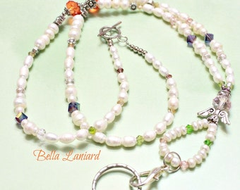 BLP2026  Angelic colorful Freshwater Pearls Lanyard