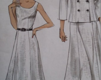 UNCUT and FF Pattern Pieces Vintage Vogue 8179 Jacket and Dress Size 14-16-18-20