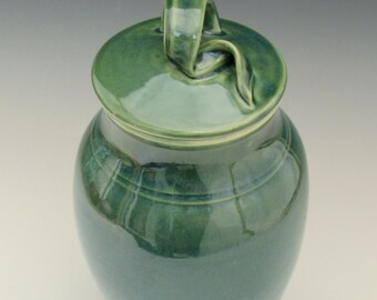 Ceramic Kitchen Cannister, Lidded Pottery Container, Condiment Jar, Pasta, Susan Fontaine Pottery