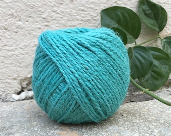 Turquoise Jute Twine, Solid Color Jute Twine, Blue Twine