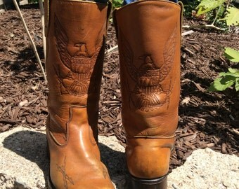 1776 Americana cowboy boots with embossed eagle sz 9.5 mens