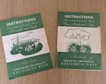 Vintage Montgomery Ward Garden Booklets - Set of 2 - 1960s SHIPPING INCLUDED
