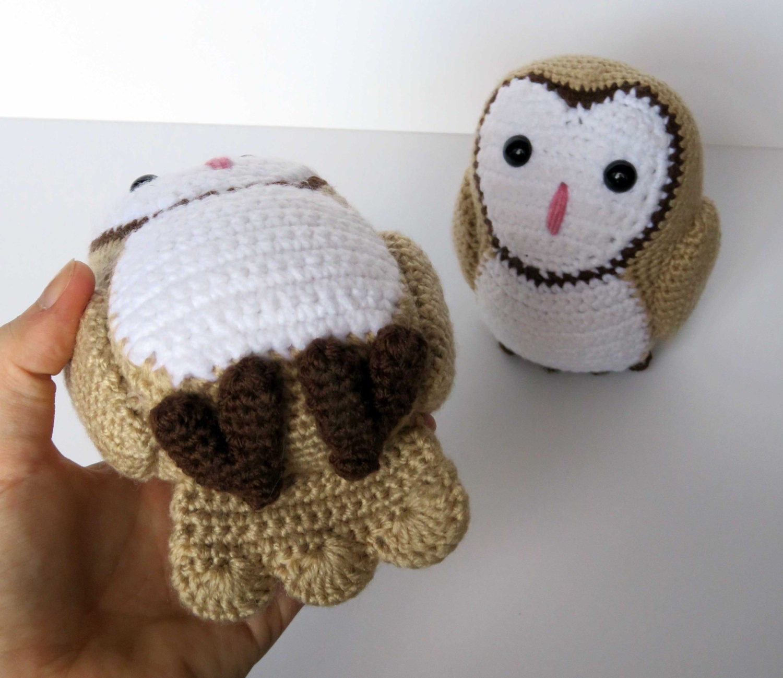Crochet Pattern: Barn Owl Amigurumi Pattern PDF From