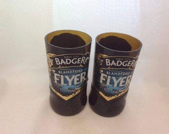 Badger Blandford Flyer Beer Glasses (Recycled Bottles) Set of 2