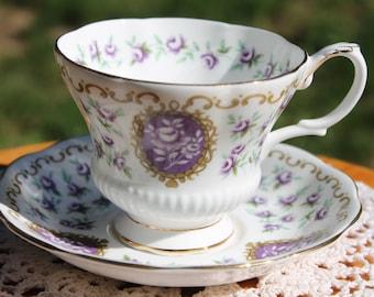 """Royal Albert Bone China Teacup and Saucer Set. """"Cameo Series - Fairing"""""""