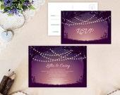 String lights wedding Inv...