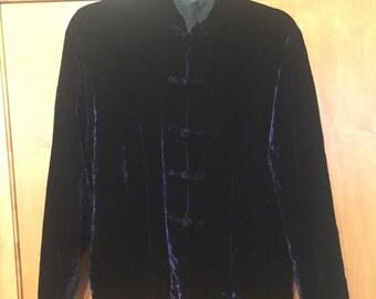 Vintage Navy Velvet Jacket