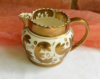 Wedgwood Creamer - Copper Luster, Art Deco, England, Etruria & Barlston  - Vintage - Beautiful!