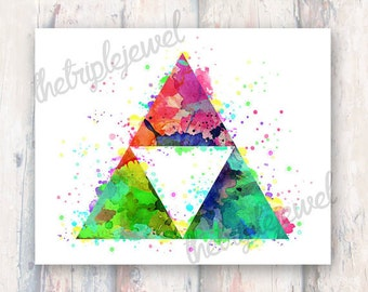 Zelda Triforce Note Cards, geekery, greeting cards, nerdy, fandom