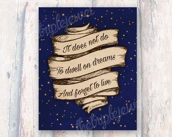 Dumbledore Quote Print, Harry Potter, Inspirational, Wall Art, Fine Art, Dorm Decor, Christmas Gift, Decoration, Shabby chic, Geekery, Nerd