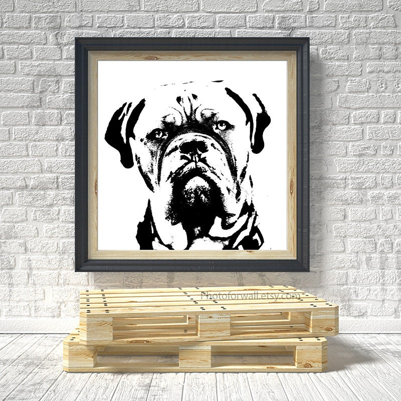 Boxer Dog Art In Black And White Photography Pet