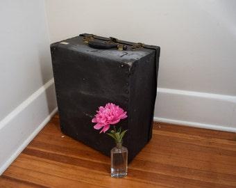 Vintage Black Box, Storage Case, Suitcase, Case