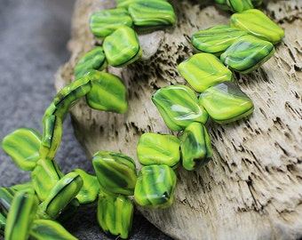 Czech Glass Leaf Beads 25 Pc 9х12mm, Czech Glass Beads, Czech Glass, Olivine Leaf Beads, Olive Green Leaves, Pressed Glass Leaf, Czech Beads