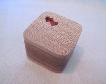 Engagement Ring Box Mahogany and Lace Wood