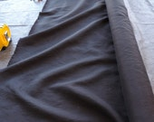 "Silk spun broadcloth yardage, black, 41"" wide, 100% silk, 4 yards, washed"