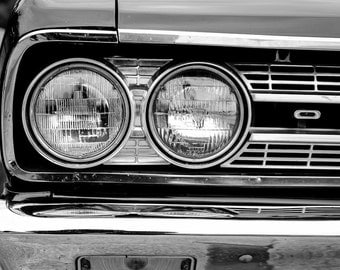 Oldsmobile Cutlass F 85, Photography, fine art Photography, Black and white, wall art, home décor, car photography, auto, gift, print