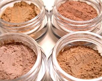 60% OFF - 4pc Mineral Foundation Sample Set Mineral Makeup - Pure Natural Vegan Makeup
