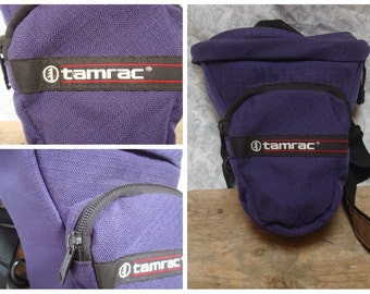 Vintage Retro Tamrac Purple Camera Bag DSLR Bag Nylon