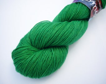Yarn sock weight Hand dyed 100% Superwash Merino- grass