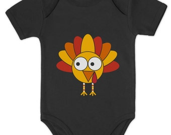 Little Turkey Cute Thanksgiving Onesie for Babies