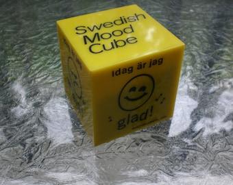 Vintage 60s/70s Danish Modern Colton Lewis Swedish Mood Cube Smiley Face Pop Art