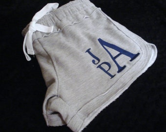 SUMMER CLEARANCE,  Crisssy Fleece Rag Hem Shorts, FREE Monogram