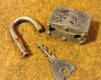 Vintage Master Lock with Key - Padlock marked 380