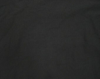 "Black Bamboo Cotton Fabric Jersey Knit by the Yard 72""W 5/16"