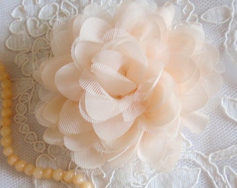 Handmade Net Yarn Flower Ribbon Roses Chiffon Flower (4 inches)  MY-425 Ready To Ship