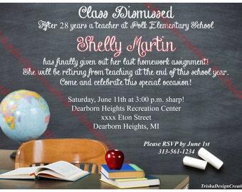 Teacher retirement invitation | Etsy