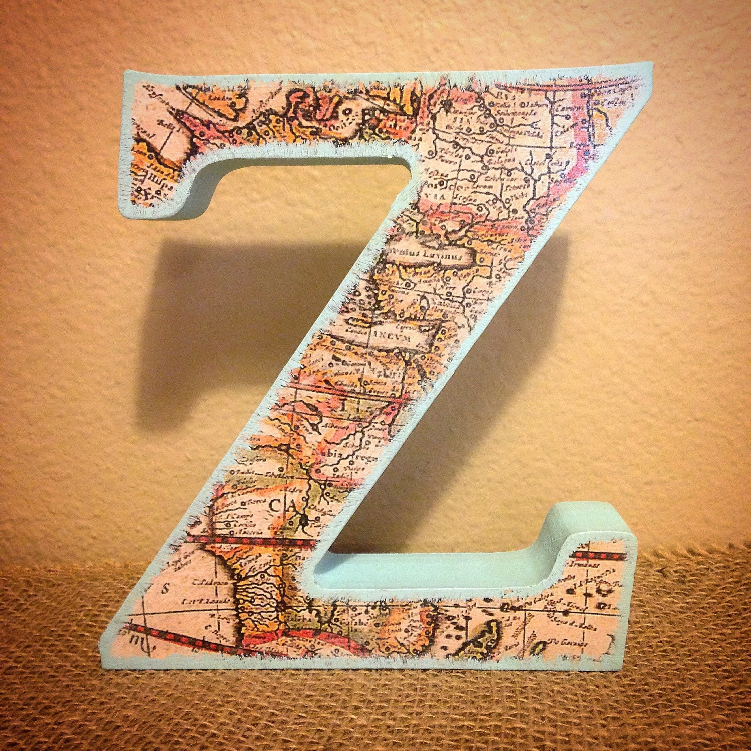 Free Standing Wood Letters Map Designs Map Letters Geography