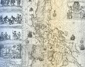 Philippine Archipelago Map 1734 Fr. Murillo Velarde S.J. 17x11 Inches Poster