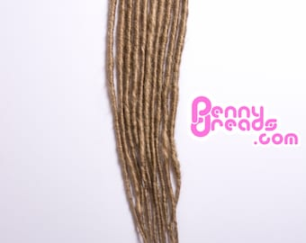 Dirty/Dark Blonde Synthetic Dreadlock Extensions (10 dreads)