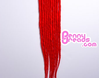 Red Synthetic Dreadlock Extensions (10 dreads)