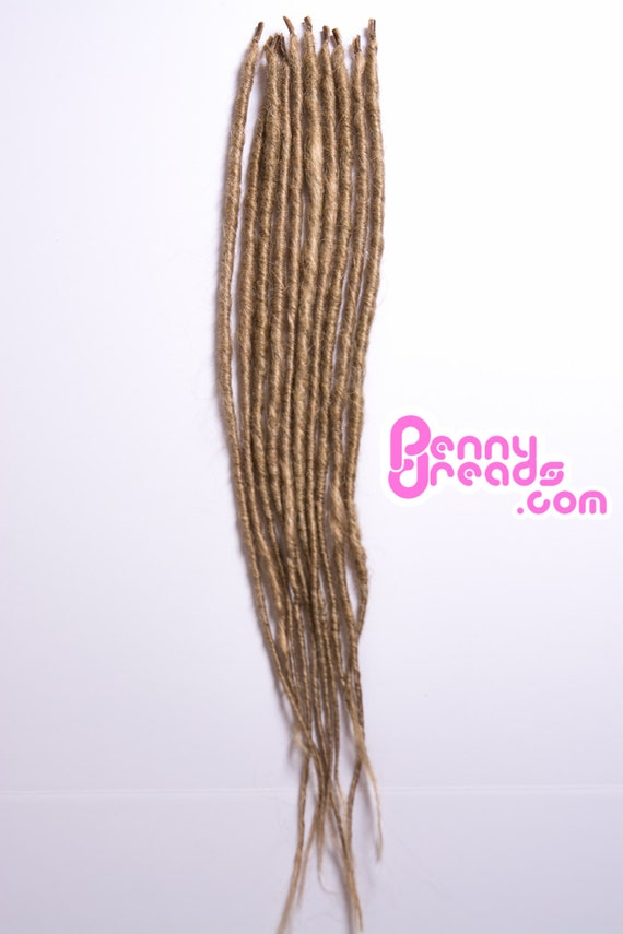 Dirty Dark Blonde Synthetic Dreadlock Extensions 10 By