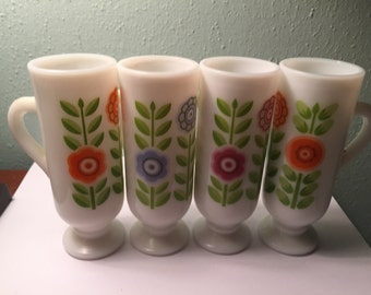Avon Dutch Treat Milk Glass