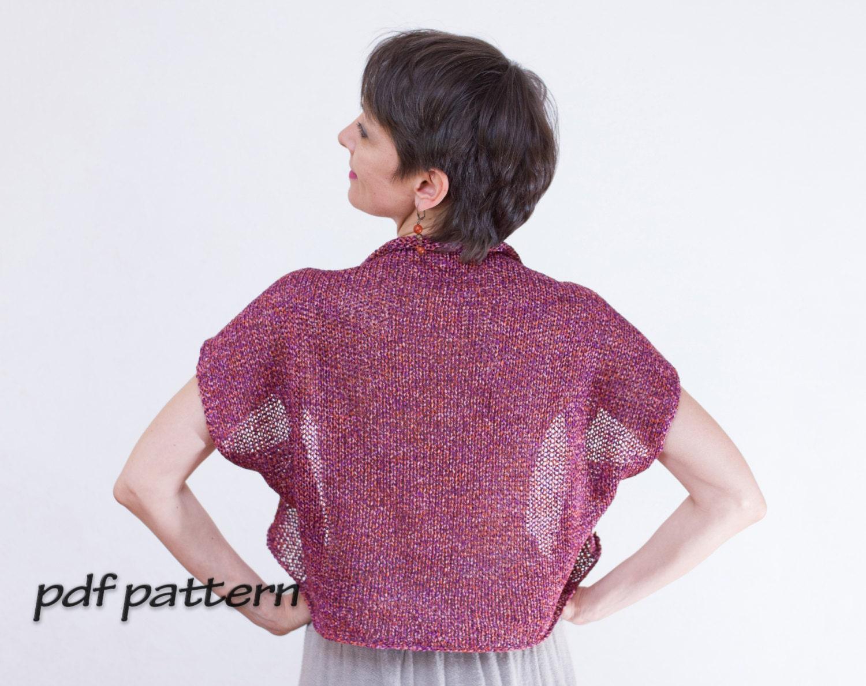 Knitting Summer Tunic : Pattern summer knitted top cotton tunic woman tank gypsy