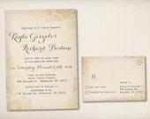 Wedding Invitation, Rustic Floral Wedding, Modern Vintage Rustic, Rustic Floral Invitation, DIY Printable, Cheap Invitation Template (WI53)