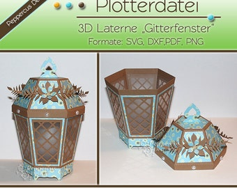 Plotter file - 3D Lantern lattice window