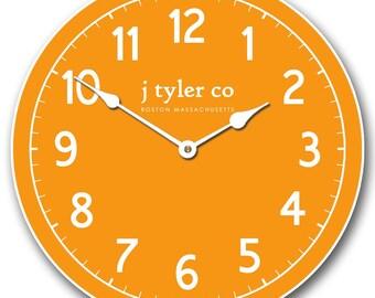New Traditional Orange Wall Clock
