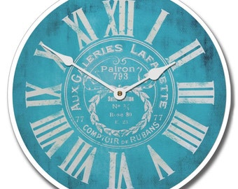Galeries Lafayette Blue Wall Clock