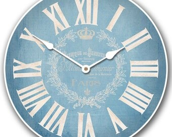 Linen Blue Wall Clock