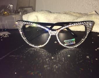 Swarovski Handmade Cateye Glasses