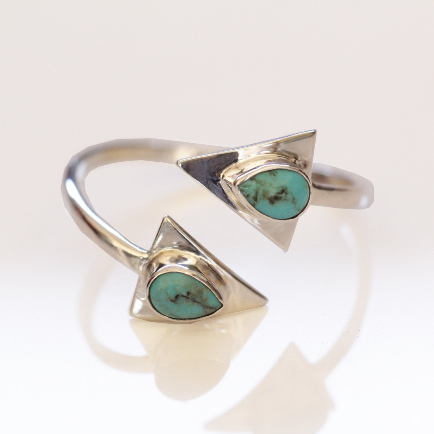 turquoise silver ring arrow ring silver ring