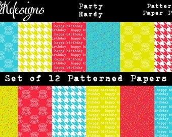 Party Hardy Digital Paper Pack