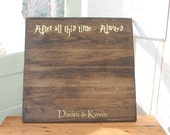 Harry Potter Wedding Guest Book, Guest Book Alternative, Wooden Guestbook, Rustic Wedding,  Unique Guest Book, Card Box, Wedding Decor