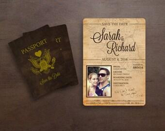 Destination Beach Passport Save The Date