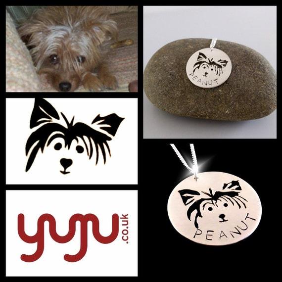 Custom Pet Portrait Necklace, Westie Necklace, Westie Pendant, Pets Name Necklace, Animal Portrait Necklace, Pet Lovers Jewellery, Animals